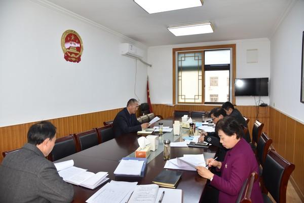 杜集区人大常委会党组中心组举行理论学习会议