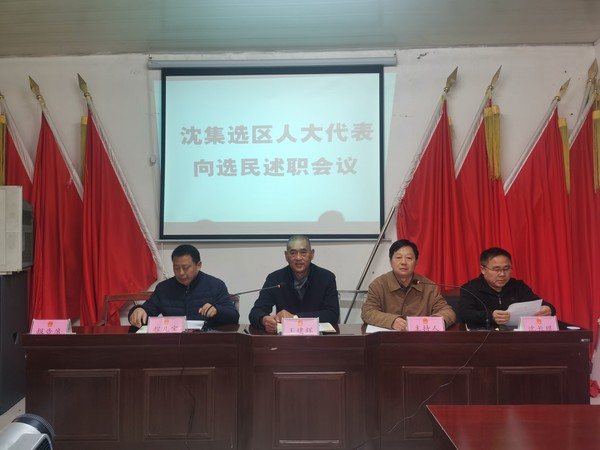 杜集区人大常委会主任王建辉赴朔里镇沈集村向选民述职